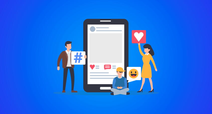 people enjoying various social media platforms