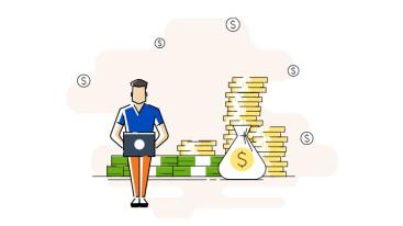 blogger-monetizing-his-blog-illustration