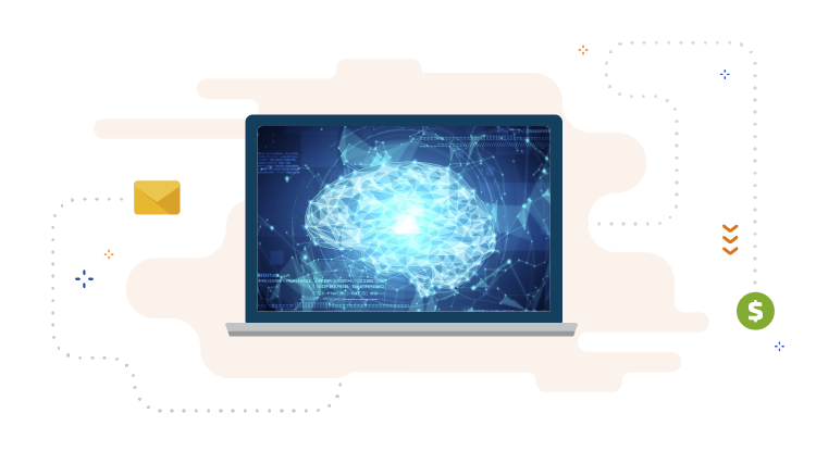 laptop presenting how artificial intelligence works
